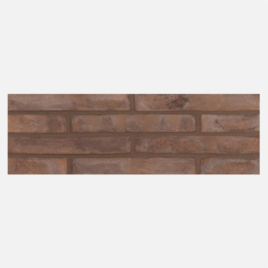 Brown Linear Bricks – Grey Mortar