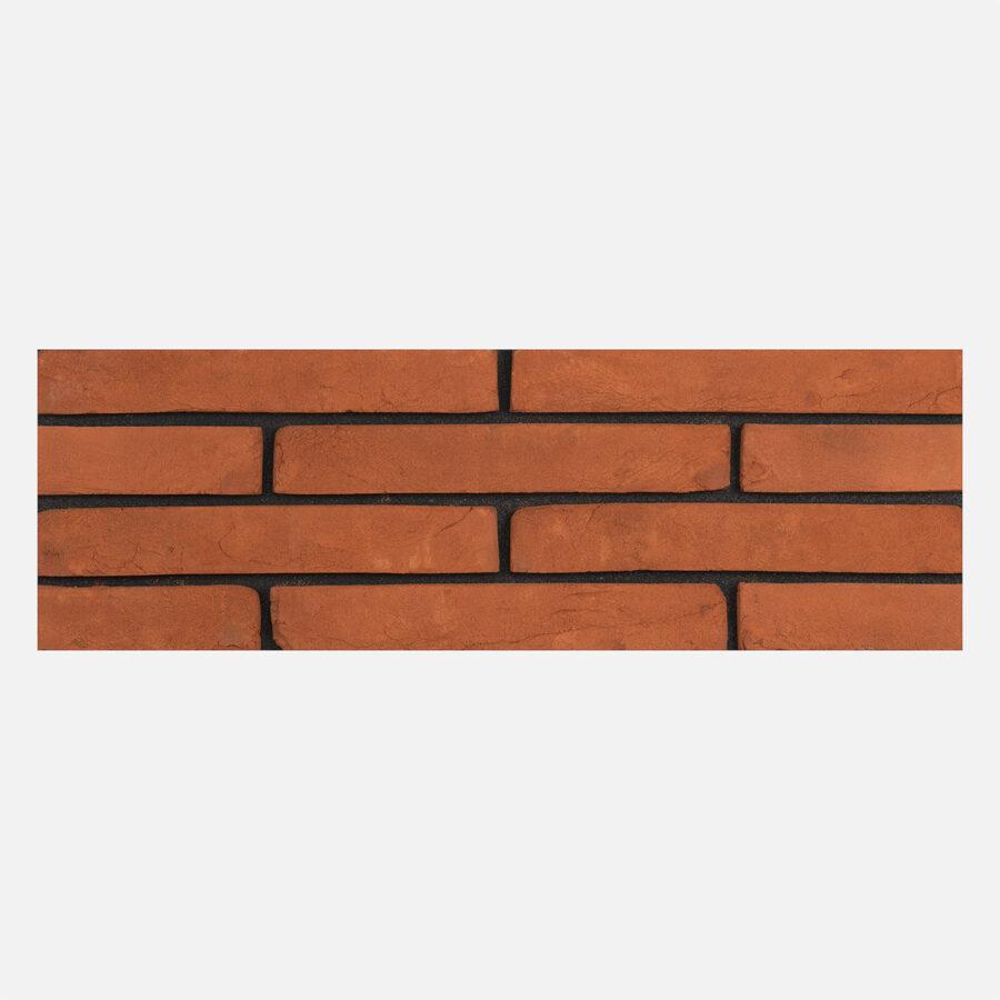 Connell Orange Linear Bricks – Black Mortar