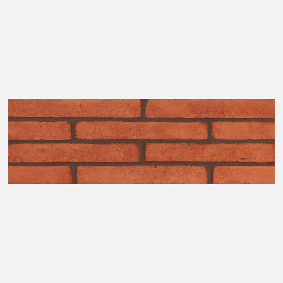 Connell Orange Linear Bricks – Grey Mortar