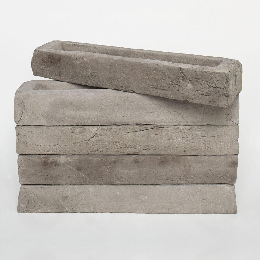Luna Grey Linear Brick Stack
