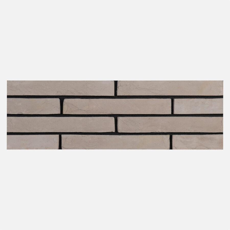 Luna Grey Linear Bricks – Black Mortar