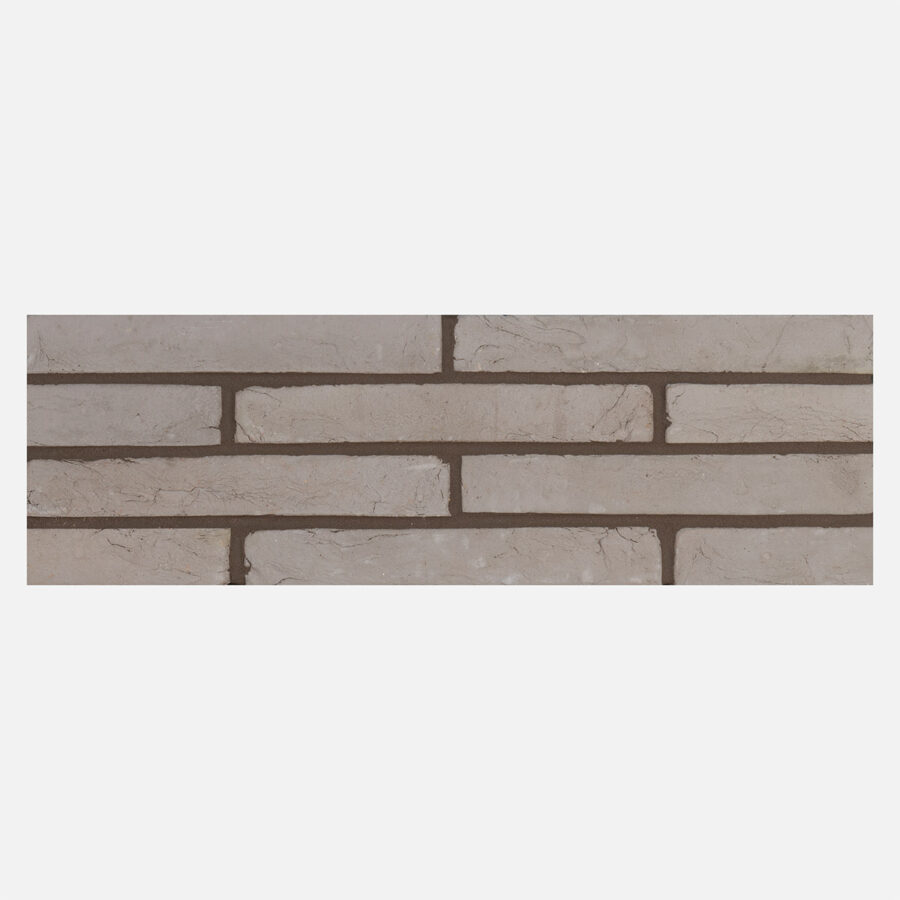 Luna Grey Linear Bricks – Grey Mortar
