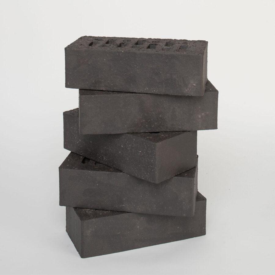 Wireless Cut Black Smooth Bricks Stack