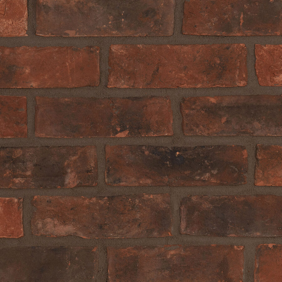 Smoked Red Bricks – Grey Mortar