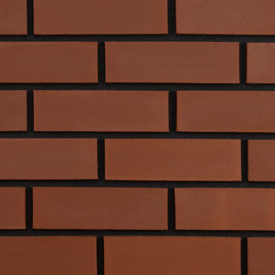 Smooth Red Bricks – Black Mortar