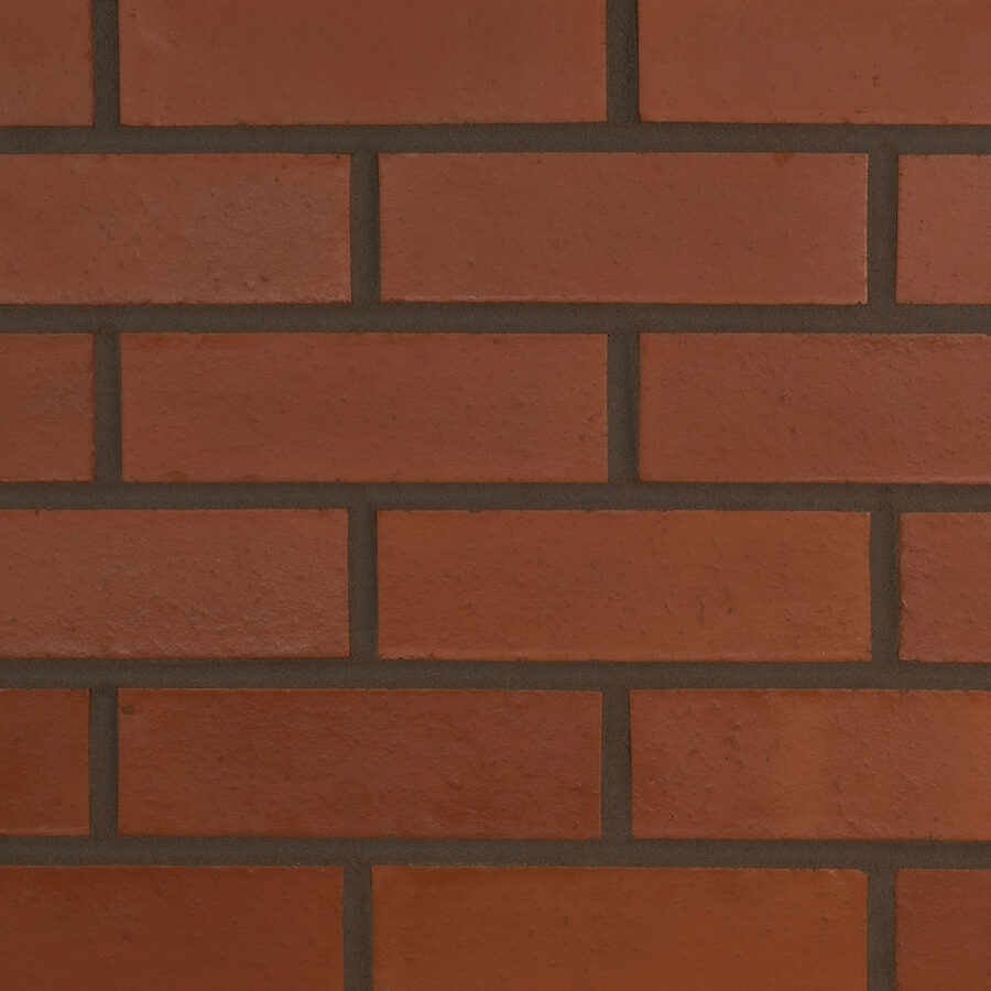 Smooth Red Bricks – Grey Mortar