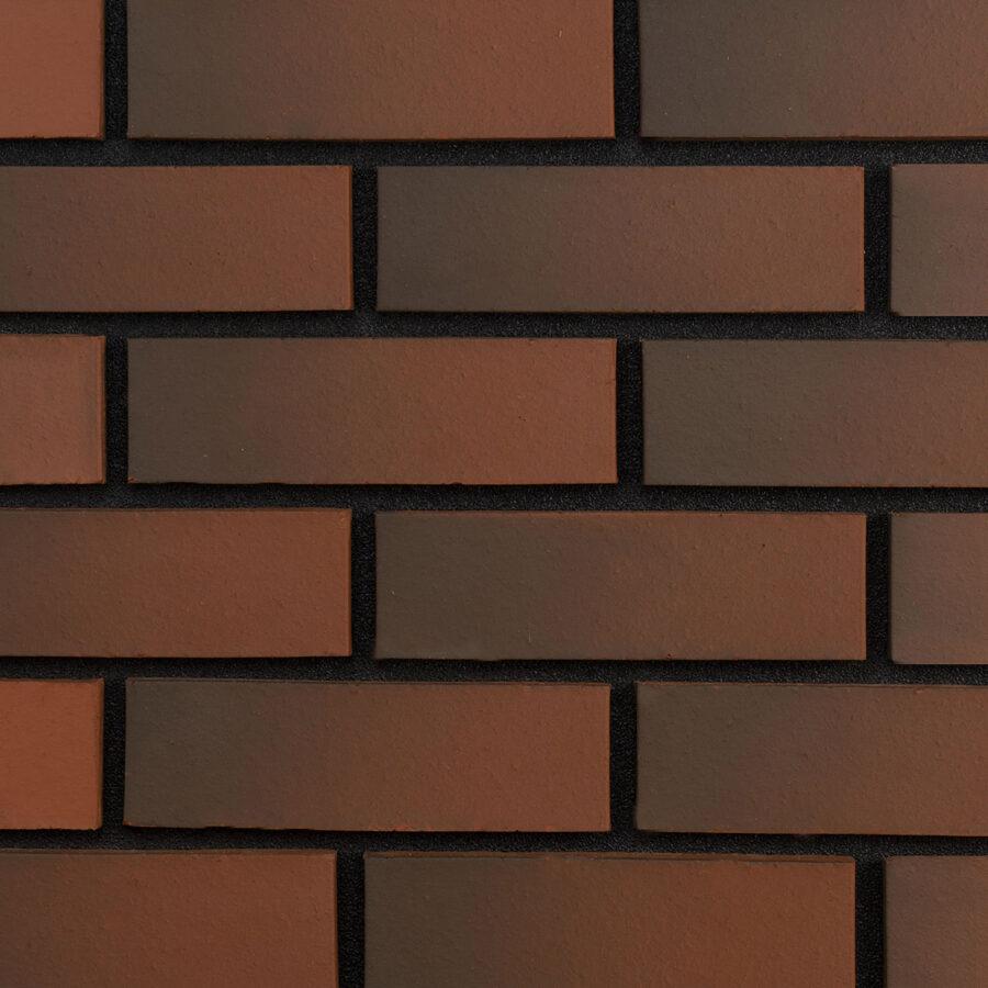 Smooth Red Weathered Bricks – Black Mortar
