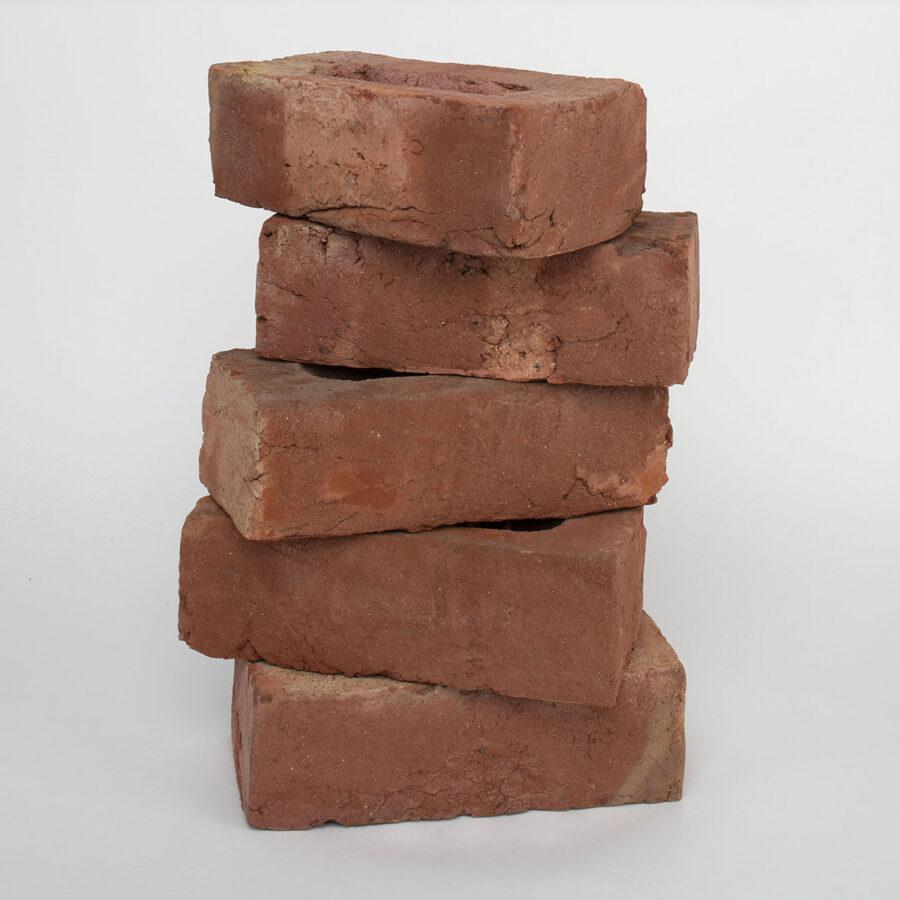 Soft Red Handmade Brick Stack