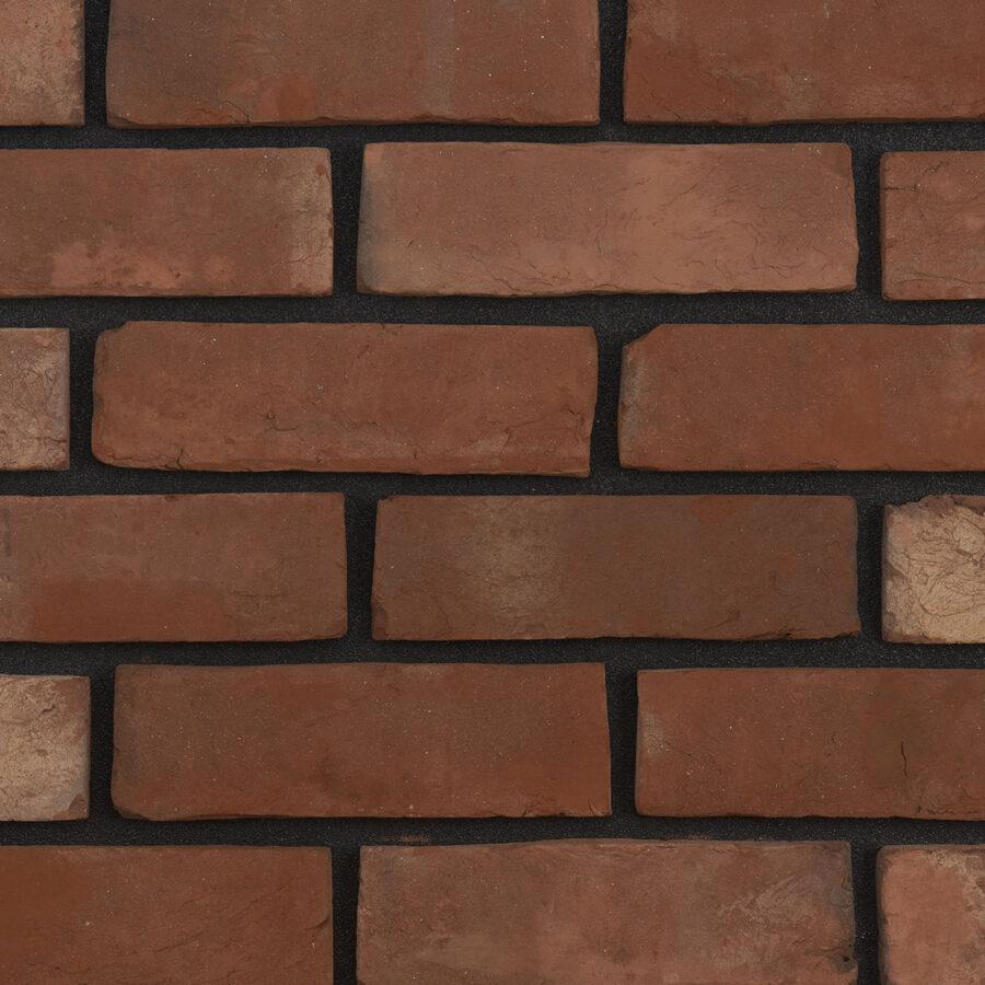 Soft Red Handmade Bricks – Black Mortar